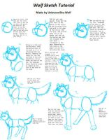Sketching a Wolf Tutorial by UnknownShe-Wolf