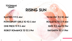 My Dream Toonami TNG Rising Sun Lineup by PeachLover94