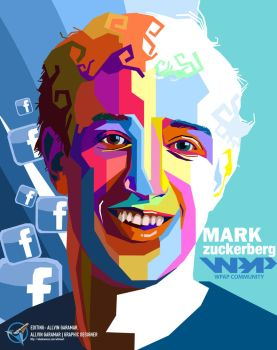 Mark Zuckerberg by allvinART