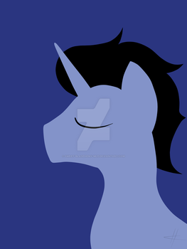 Simple MLP Portrait - Specially Trained Derp by Sweet-Blasphemy-MLP