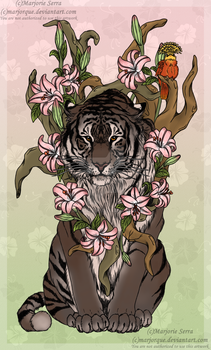 Tiger - RedBubble - Society6 - INPRNT by Marjorque