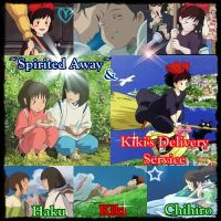 Together-Kiki's Delivery Service and Spirited Away by MakorraLove12