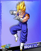 DBkai card #7 Vegetto ssj by Bejitsu