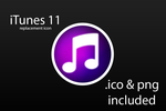 iTunes 11 Icon Replacement by WinSkinOfficial