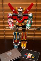 Vintage Voltron III Lions with limited edition key by RaynePhotography