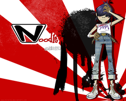 Wallpaper Noodle Gorillaz by Koisite