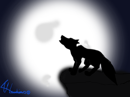 wolf howling at the moonlight by misty-warriors