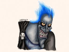 Disney Villains Portrait Series: Hades by Lady-in-Ink