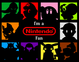 Nintendo -I'm a Fan- Wallpaper series by spdy4