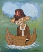 Argh Cat Pirate by Teagle