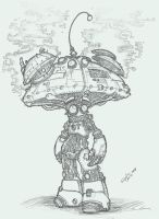 Planescape-Mechanical Mushroom by Sebbythefreak