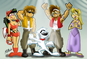 Halloween Time 2010 - Dancin' With The Wolves... by MRottweiler-Dog