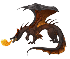 Dragon-Lady-NFLD's Fire Dragon by jeweledphoenix