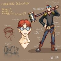 Steampunk Guy with Goggles by renegadesoldier