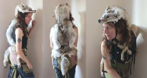 Little Coyote Headdress by lupagreenwolf