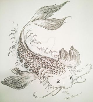 Koi in Water by Rani-channi