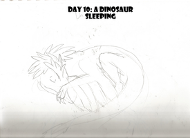 30 Day Dinosaur Drawing Challenge: Day 10 by PandaFilms