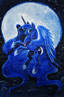 Princess Luna. Akril. A2 by Dalagar