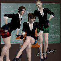 School Girl uniforms ftw by IamAlbertWesker