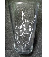 Pokemon Pikachu pint glass by coventrydecor