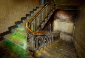 Asylum stairs interior by TonyD3