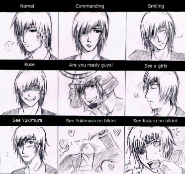 Date Masamune's emotion by Afeara