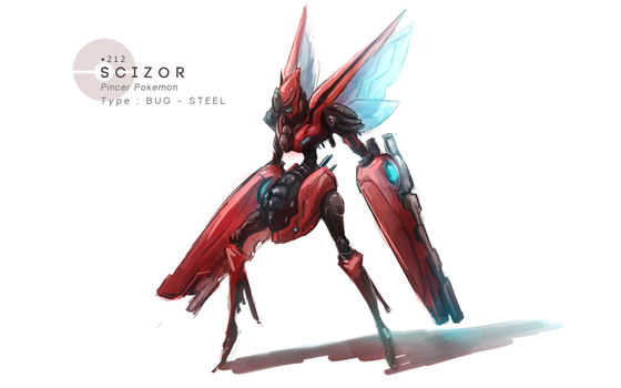 Scizor by MrRedButcher