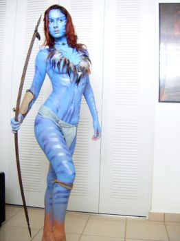 Neytiri full makeup test by Official-AmyFantasy
