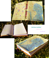 'Rainbow bubbles' leather journal by Elescave