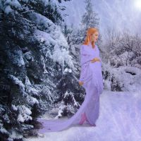 Lady of the Winter Forest by cazcastalla