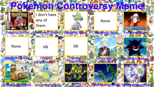 My Pokemon Controversy by CyberMonkeyLord