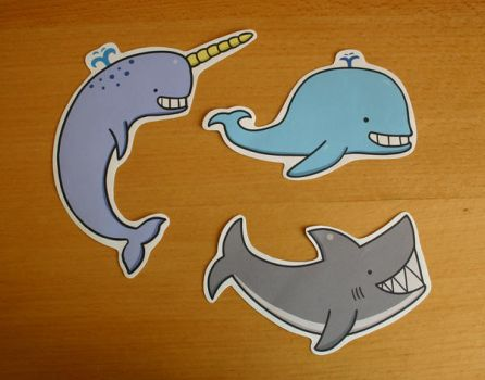 Aquatic Friends Sticker Set by ThePockyGirl