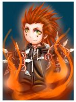 KH2: chibi Axel by DarkLitria