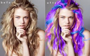 Hair Color Changer *(Purple, Yellow, Blue, Pink) by cutebahary