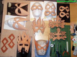 Halloween prep - leather masks by Alyssa-Ravenwood
