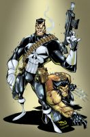 Punisher and Wolvie ColorJam by Javilaparra