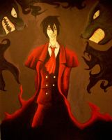 Alucard Painting by TheHellPuppi