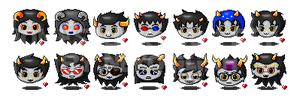Homestuck icons set 1 by NekoLiliah
