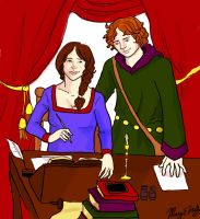 Heloise and Abelard by boscaresque