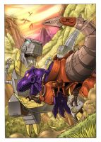 Grimlock V Megatron by wordmongerer