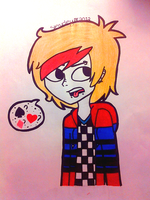 Really Old Drawing of Thomas by Ghoustlyy