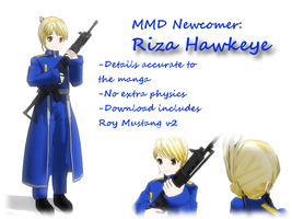MMD Newcomer: Riza Hawkeye -Includes Roy V2- by StellatheAlchemist