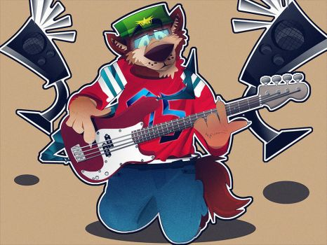 Bass Player by HectorVrl