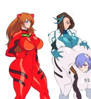Lillith, Asuka, and Rei by Jay-Marvel