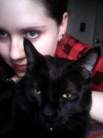 Hangin with my kitty cat by A-Negative-Blood