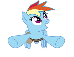 Rainbow Dash Flying by PaulySentry