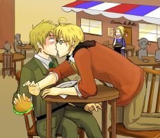 Hetalia - US x UK by Limebro