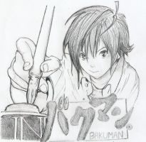 Mashiro Moritaka from Bakuman by jaechoe