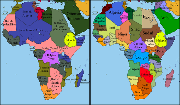Alternate Africa 1900 - 2017 by EntrerrianoMaps