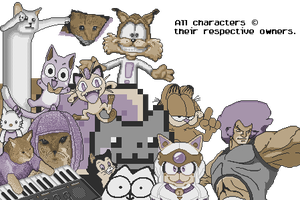 15Colour Pixel Cats (OLD) by JTtheLlama